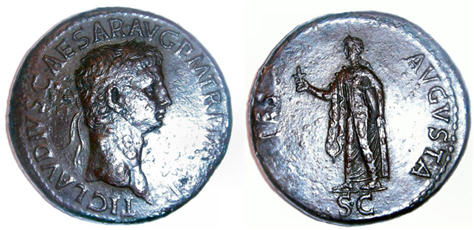 Bronze Coin of Claudius
