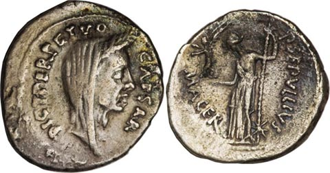 Veiled Head of Caesar Coin