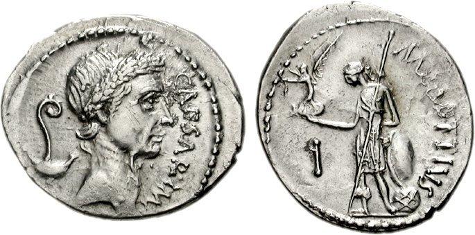 Julius caesar roman emperors busts statues information coins julius and venus coin freerunsca Images