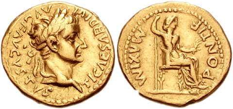 Tiberius and Livia Coin